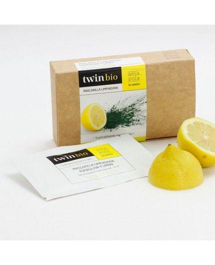 Mascarilla limpiadora de Espirulina y Limón
