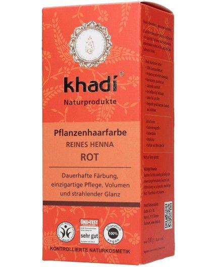 Tinte Vegetal Henna roja - 100% BIO-Khadi