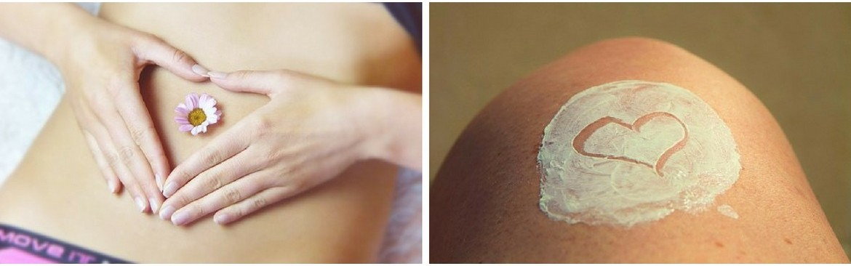Productos de cosmética corporal hidratante ecológica, 100% natural