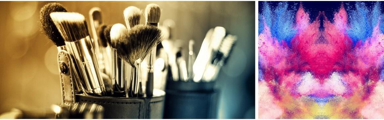 Brochas de maquillaje veganas. Brochas de bambú.